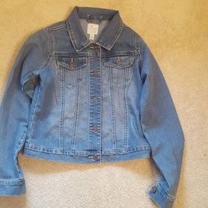 Childrens Place girls jean jacket size 14